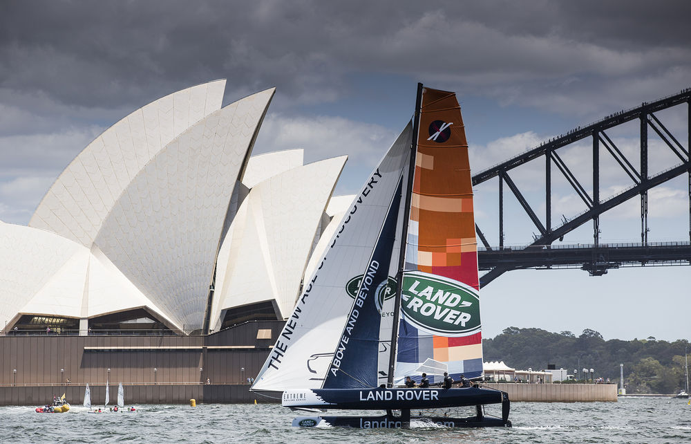 The Extreme Sailing Series 2014. Act 8. Sydney. Australia. Credit: Lloyd Images